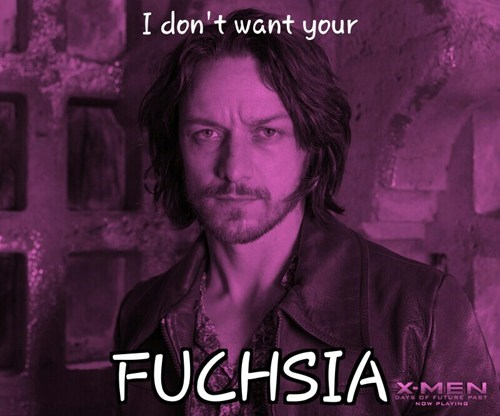 puns,professor x,x men,fuschia