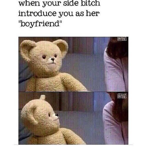 boyfriend side girl downy bear girlfriend funny
