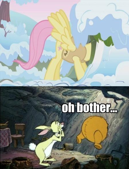 fluttershy winnie the pooh stuck - 8219276800