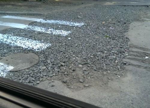 monday thru friday road work crosswalk there I fixed it - 8219294464