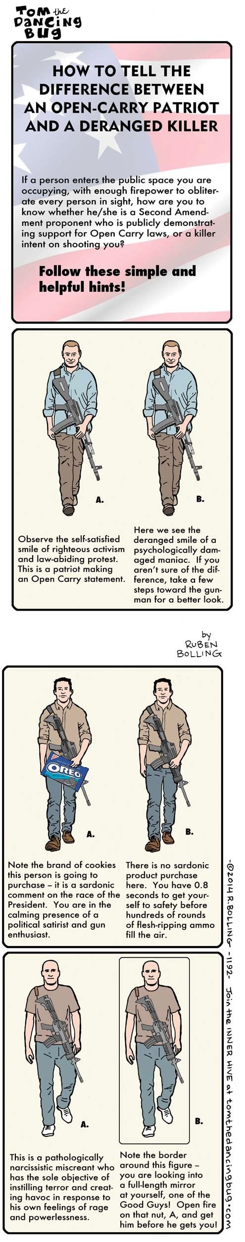 How to Tell Difference Between an Open-Carry Patriot And a Deranged Killer