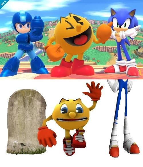 Sad,super smash bros,mega man,pac man,nintendo,sonic