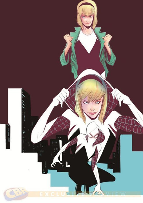 spider woman Straight off the Page gwen stacy - 8219378176
