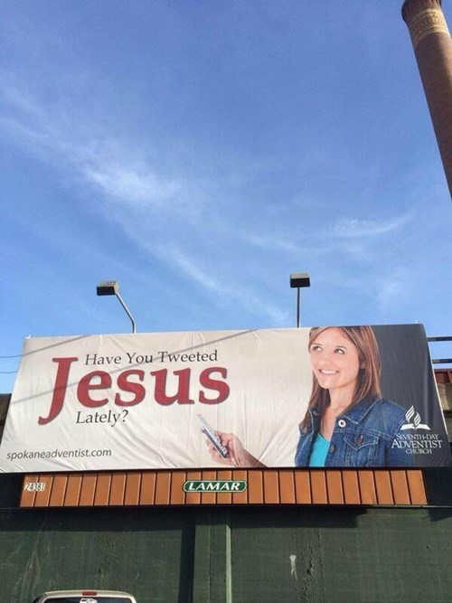 jesus sign billboard twitter religion failbook g rated