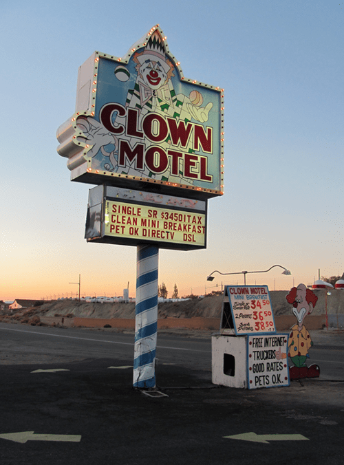motels clown motel - 8219414784