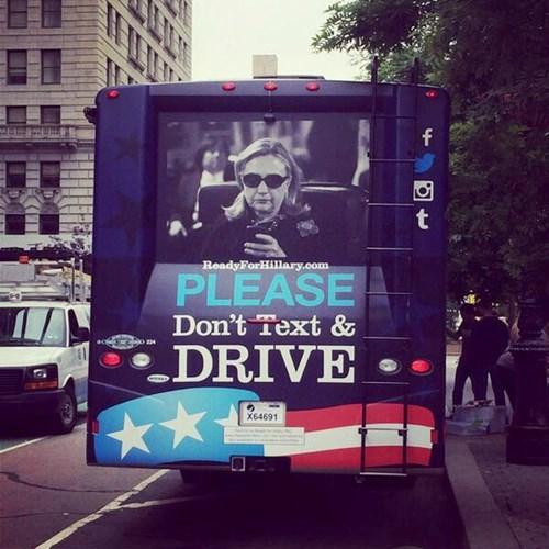 design Hillary Clinton bus - 8219429376