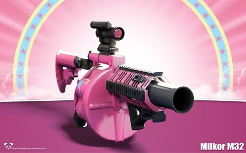 grenade launcher,pinkie pie,party cannon