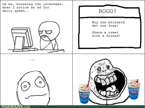 forever alone,coupon,ice cream