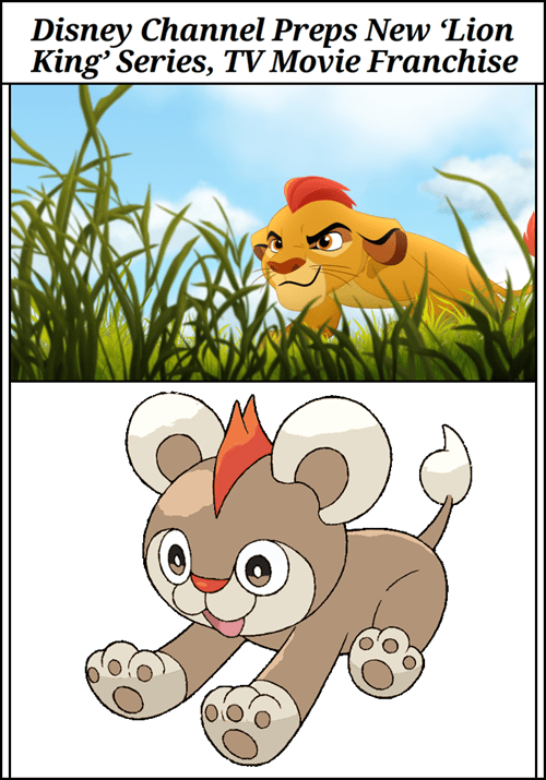 cartoons disney lion king Pokémon litleo - 8220093440