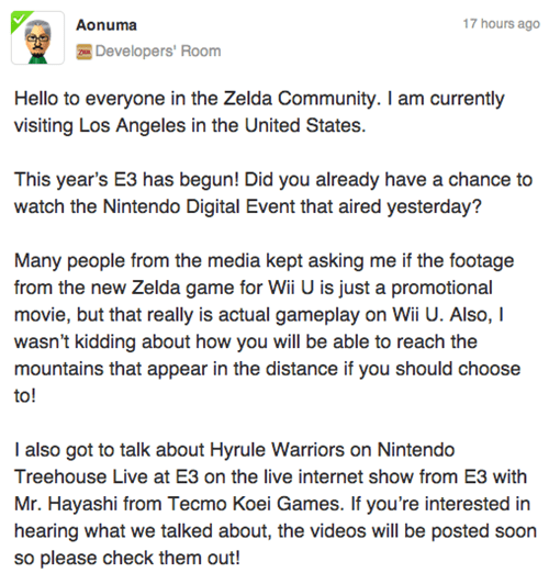 nintendo,legend of zelda,E32014,zelda u,Video Game Coverage