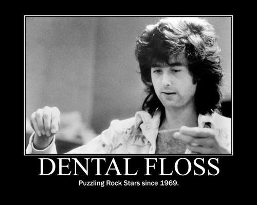 dental floss rock stars idiots funny - 8220376576