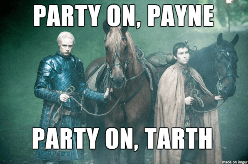 Game of Thrones season 4 waynes world brienne of tarth podrick - 8220479232