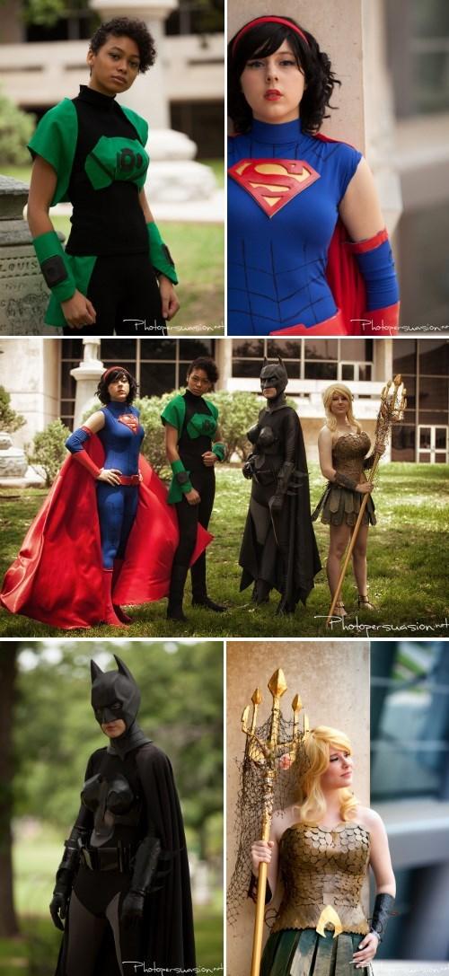 cosplay,aquaman,batman,justice league,Green lantern,superman