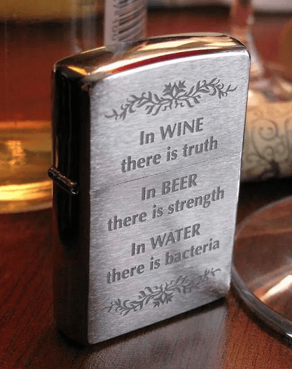 beer lighter funny wine water - 8220519936