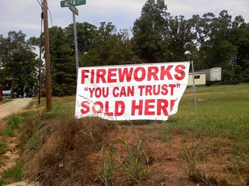 fireworks suspicious quotations