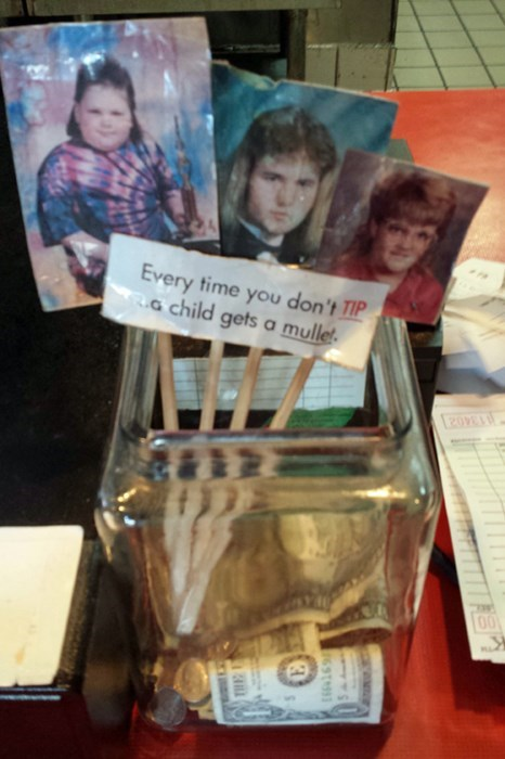 monday thru friday mullet poorly dressed tip jar - 8220523520