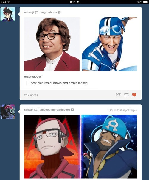 totally looks like team aqua team magma