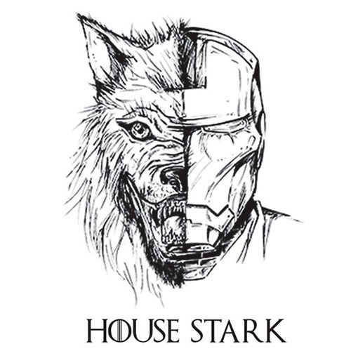 Game of Thrones iron man starks tshirts - 8220632576