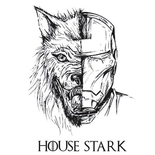 Game of Thrones iron man starks tshirts - 8220632576