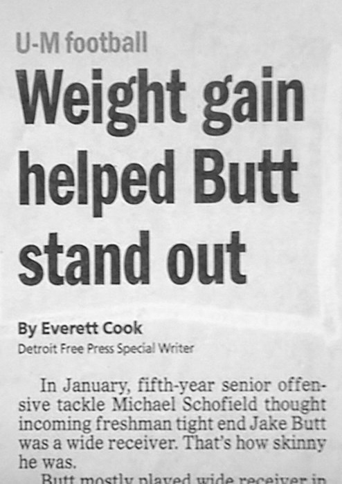 butt stuff,headline,newspaper
