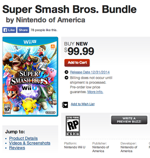 nintendo super smash bros wii U Video Game Coverage - 8221307648