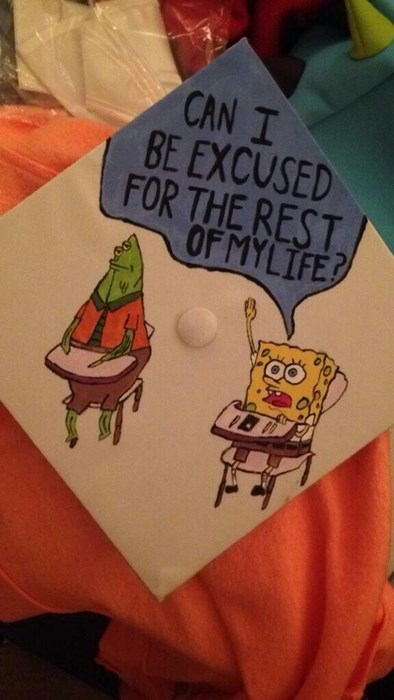 funny SpongeBob SquarePants graduation - 8221353472