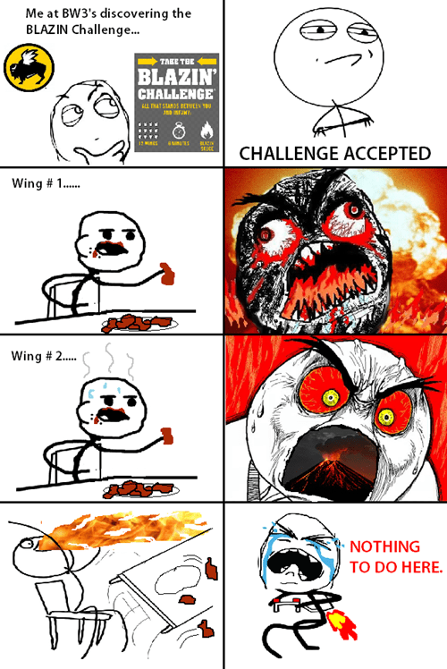 Challenge Accepted food spicy wings - 8221445888