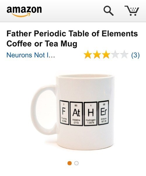 fathers day science Chemistry mug