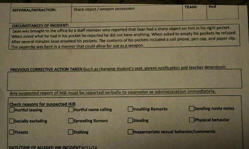 detention paper clip wtf idiots g rated School of FAIL - 8221759232