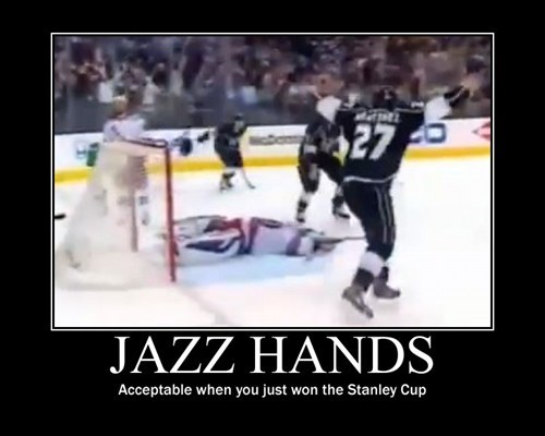 hockey funny jazz hands stanley cup wtf - 8222499584