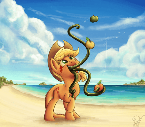 applejack,Fan Art,tatzlworm