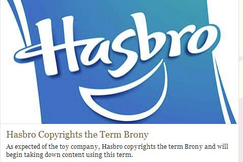 brony,Hasbro,copyright