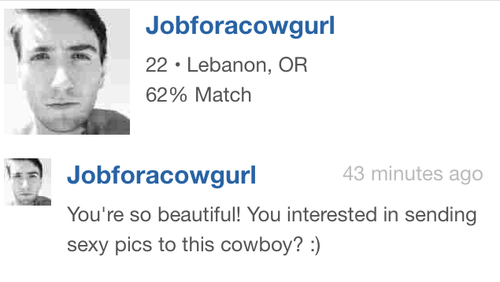 cowboy,online dating,wtf