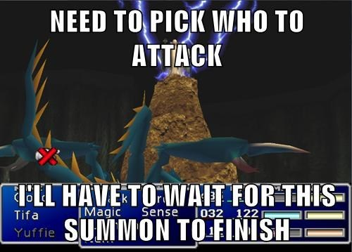 final fantasy VII,video game logic
