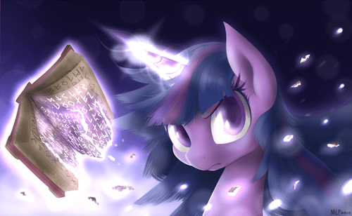 Fan Art,twilight sparkle,spellbook