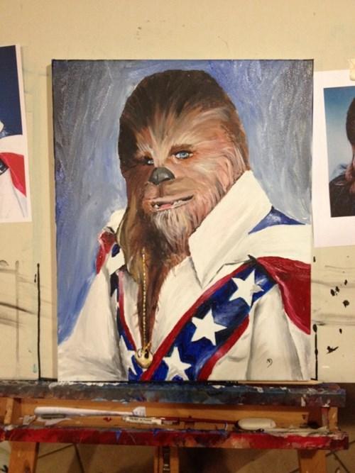 chewbacca,evil knievel