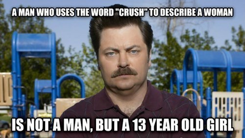 dating crushes ron swanson relationships