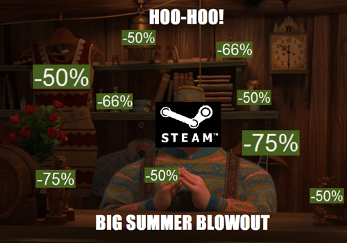 frozen steam sales steam