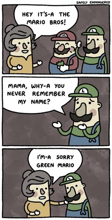 luigi Super Mario bros green mario mario web comics - 8224464128