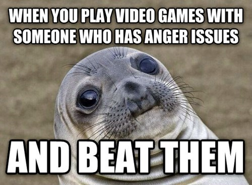 awkward seal video games game rage awkward situation seal