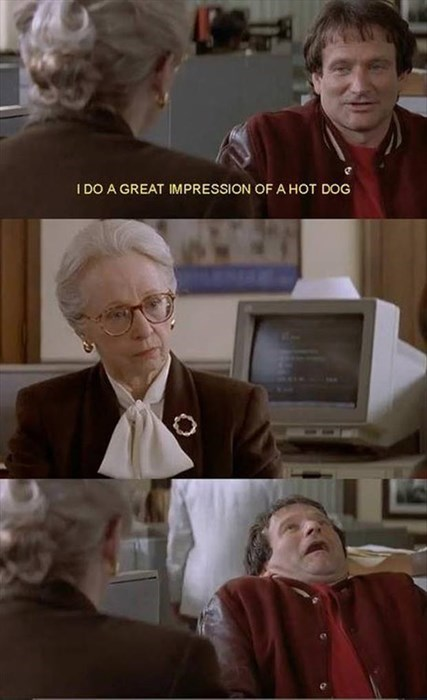 impressions mrs doubtfire robin williams