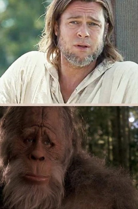 totally looks like Harry and the Hendersons brad pitt - 8224652800