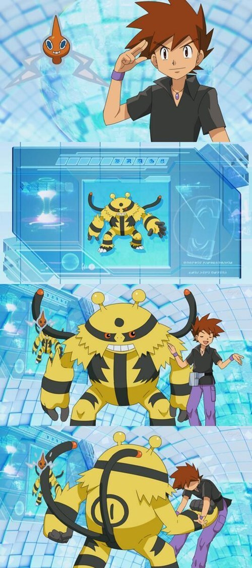 anime,gary oak,Pokémon,electivire