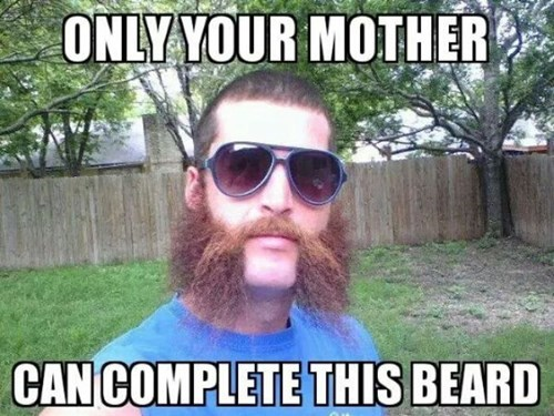 facial hair poorly dressed your mom - 8224722944