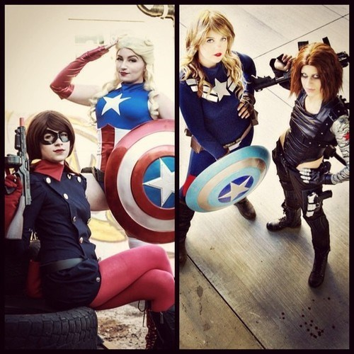 captain america,cosplay,gender bender,winter soldier