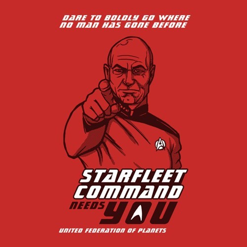 for sale Uncle Sam Star Trek TNG tshirts