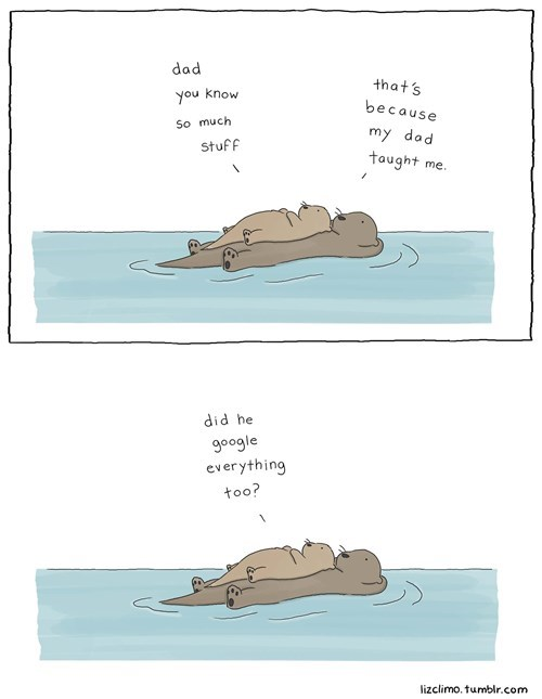 dad,google,otter,parenting,web comics