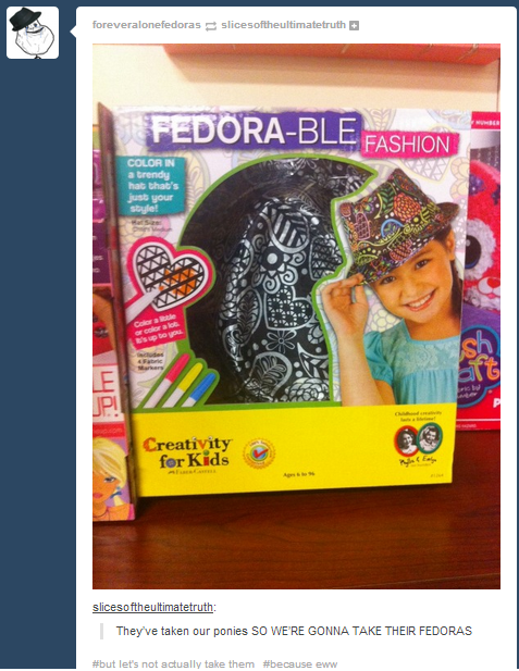 my little pony fedora failbook g rated - 8224835072