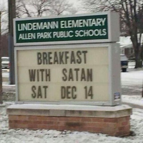 religion,breakfast,sign,after 12,g rated