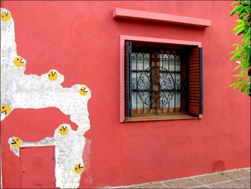 Street Art,nerdgasm,pac man,hacked irl